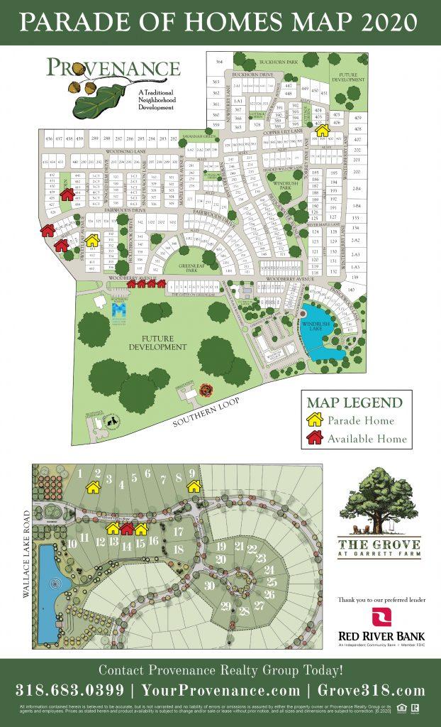2020 Parade of Homes Map Prov and Grove