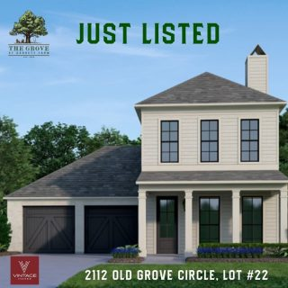 ⭐NEW LISTING!⭐ 2112 Old Grove Circle on homesite 22 in The Grove at Garrett Farm is under construction and available for sale! This gracious 2-story home has 3 Bedrooms | 2.5 Baths | 2,435 sq ft.   View the floor plan on our website by tapping the link in profile ⬆️ https://grove318.com/available_homes/2112-old-grove-circle/  Features include:  Located on cul-de-sac across from circle park, Inviting Front Porch, Great Room with fireplace is partially separated from Kitchen, Open Kitchen with large island that extends to Dining Room, Beautiful wall of windows across the back lead to covered back porch and yard , Large Laundry Room, Powder Room, and Drop-Off Spot located off the Kitchen, Spacious Main Bedroom with windows to back yard, Main Bath has double sinks and linen closets plus water closet, large tub, walk-in shower and large closet, Upstairs features another Living Area, 2 Bedrooms, shared Bath with sink area for each bedroom.🙌🏼  Move-in estimated November of 2021. 🏡Home Builder: Vintage Homes  