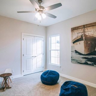 A retreat for the little ones! We love leaving lots of floor space for games and toys. Building a custom home means creating a floor plan with your specific needs in mind! What would you do with an extra room? #shreveport #shreveportbossier #shreveportrealestate #shreveportrealtor #customhome #playroom #grove318 #modelhome