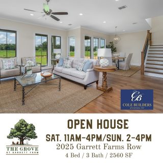 A beautiful new construction home 🏡 available and move-in ready at The Grove is open this weekend! View more photos, floor plan, and even a virtual tour on our website. This home would make someone's holidays very merry! Built by Kirby Cole of Cole Builders, this home has it all.   #Shreveport #ShreveportLA #ShreveportRealEstate #Shreveporthomesforsale #Shreveporthomes #Newhomesforsale #Newhomeconstruction #shreveportnewhomes #grove318 #shreveportrealtors #shreveportrealtor #shreveportbossiercity