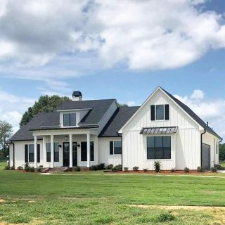 Grove Home Builder Hudco Construction just completed a beautiful custom farm house for clients on private land - come see about building with them at the Grove! #shreveporthomes #shreveportrealestate