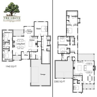 We couldn't miss Floor Plan Friday! Here are two different one story home layouts. Which do you prefer? If you are unsure how to start building your own home, we have over 30 floor plans designed by award winning architects to look at and customize. Or, you can start from scratch with your own design. Come visit us this weekend to explore the possibilities! (tap the link in bio to visit) https://grove318.com/floorplan-grid/  #shreveporthomes #grove318 #shreveportrealestate #shreveportrealtor