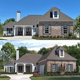 Real Life vs. Architectural Rendering before construction begins. Pretty good match! 👌 #newhomeconstruction #shreveporthomes #shreveportrealestate