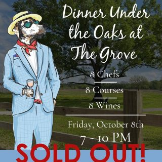 We can't wait to see everyone this Friday for the ✨SOLD OUT✨Dinner Under The Oaks with Chef Blake Jackson and friends! If you missed out on the tickets, you can still attend the Catahoula Wine Mixer on Saturday. Visit the event page on www.grove318.com or go to www.catahoulawinemixer.com to purchase. #shreveportevents #shreveporteats #eat318 @chefblakejackson