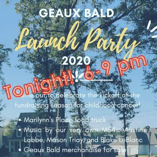 A fun event tonight! We hope to see you in Provenance's Greenleaf Park from 6-9 pm! #geauxbald #stbaldricks #lsu #lsumed #shreveport